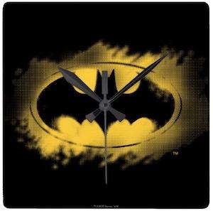 Square Batman Logo Wall Clock