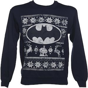 Batman Fair Isle Christmas Sweater