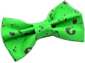 The Riddler Green Bow Tie