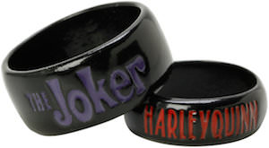 DC Comics Harley Quinn And The Joker Couples Ring Set
