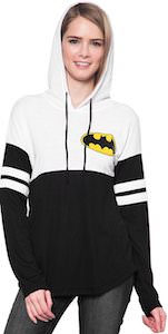 Women's Black And White Batman Hoodie