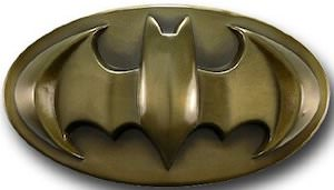 Bronze Batman Logo Belt Buckle