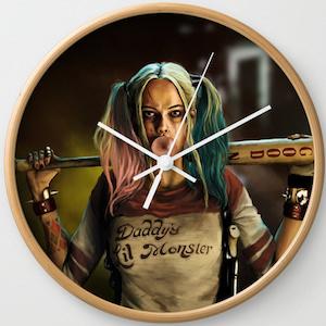 Round Harley Quinn Wall Clock