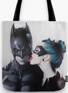 Batman And Catwoman Tote Bag