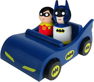 Batman and Robing In Batmobile Pin Mate Toy
