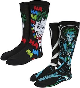 2 Pairs Of The Joker Socks