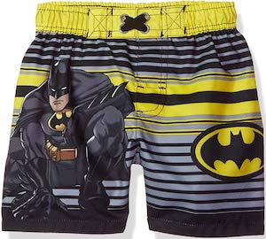 Batman Yellow And Black Toddler Swim Trunks