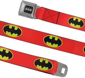 Red Belt With Batman Logos