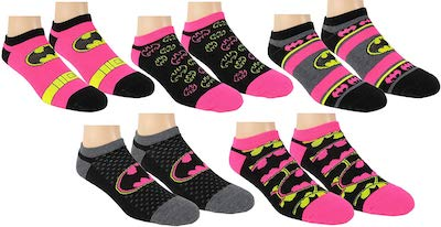 5 Pairs Of Women's Batman Socks