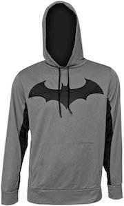 Gray Batman Logo Hoodie