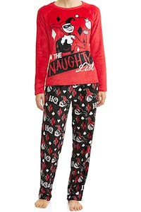 Women's Harley Quinn On The Naughty List Pajama