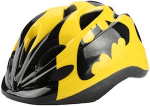 Yellow Batman Logo Bike Helmet