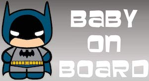Batman Baby On Board Sticker