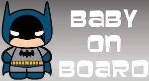 Batman Baby On Board Sticker