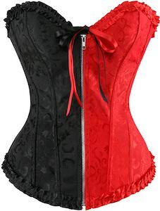 Harley Quinn Black And Red Corset Top