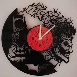 Dark Knight vs Joker Vinyl Record Wall Clock
