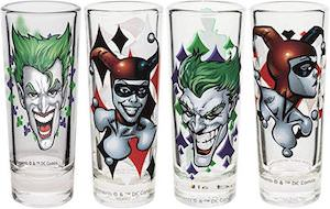 The Joker And Harley Quinn Glasses Set