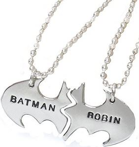 Batman And Robin Friends Necklace Set