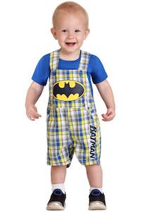 Infant Batman Plaid Shortall Set