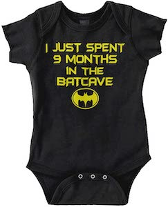 Batman 9 Months In The Bat cave Baby Bodysuit
