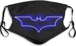Blue Batman Logo Face Mask