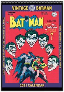 2021 Vintage Batman Poster Wall Calendar
