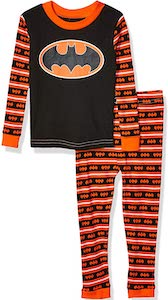 Batman Black And Orange Kids Pajama Set
