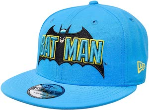 Light Blue 1980's Era Batman Cap