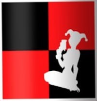 Red And Black Harley Quinn Sticker
