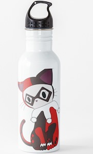 Harley Quinn Cat Water Bottle