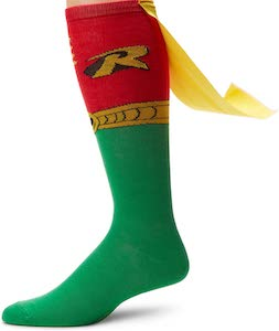 Robin Costume Socks With Cape