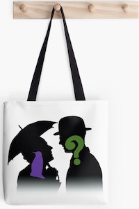 The Penguin And The Riddler Tote Bag