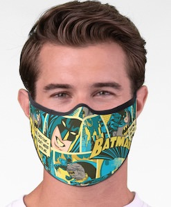 Batman Comic Face Mask