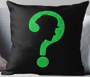 The Riddlers Face Pillow