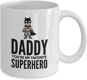Batman Daddy You're My Favorite Superhero Mug