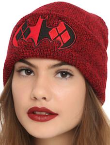 43fb54c9928 Batman Logo Harley Quinn Beanie Hat