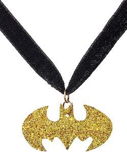 Gold Batman Symbol Chocker Necklace