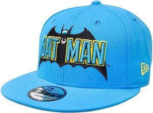 Light Blue 1980's Era Batman Cap