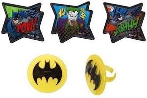 Batman And The Joker Cupcake Rings